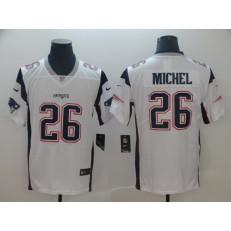 c16339a55cd New England Patriots  26 Sony Michel White Vapor Untouchable Limited Nike  NFL Men Jersey