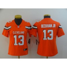 Women Nike Cleveland Browns #13 Odell Beckham Jr Orange Vapor Untouchable Limited Jersey