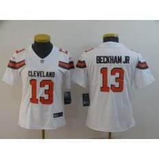 Women Nike Cleveland Browns #13 Odell Beckham Jr White Vapor Untouchable Limited Jersey