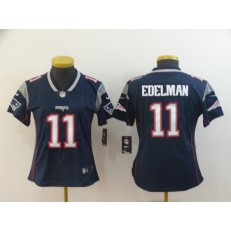 Women Nike New England Patriots #11 Julian Edelman Navy Vapor Untouchable Limited Jersey