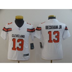 Youth Nike Cleveland Browns #13 Odell Beckham Jr White Vapor Untouchable Limited Jersey