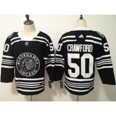 Chicago Blackhawks #50 Corey Crawford Black 2019 Winter Classic Adidas NHL Men Jersey