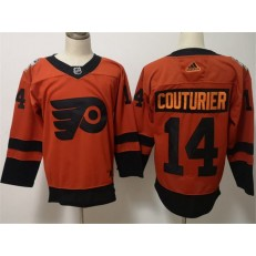 Philadelphia Flyers #14 Sean Coutureir Orange 2019 NHL Stadium Series Adidas Men Jersey