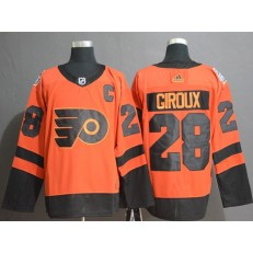 Philadelphia Flyers #28 Claude Giroux Orange 2019 NHL Stadium Series Adidas Men Jersey