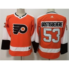 Philadelphia Flyers #53 Shayne Gostisbehere Orange Women Adidas Jersey