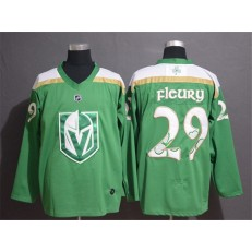 Vegas Golden Knights #29 Marc-Andre Fleury Green 2019 St. Patrick's Day Adidas NHL Men Jersey