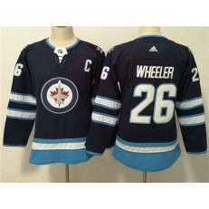 Winnipeg Jets #26 Blake Wheeler Navy Women Adidas Jersey