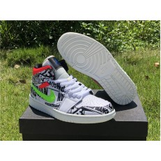 AIR JORDAN 1 MID ALL OVER LOGOS 554724-119
