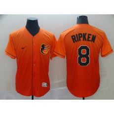 MLB Baltimore Orioles #8 Cal Ripken Jr Orange Drift Fashion Men Jersey
