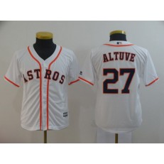 MLB Houston Astros #27 Jose Altuve White Youth Cool Base Jersey