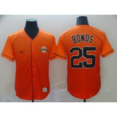 MLB San Francisco Giants #25 Barry Bonds Orange Drift Fashion Men Jersey