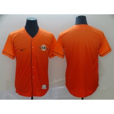 MLB San Francisco Giants Blank Orange Drift Fashion Men Jersey