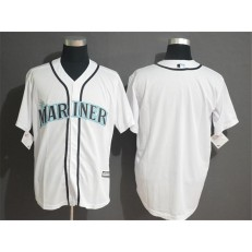MLB Seattle Mariners Blank White Cool Base Men Jersey