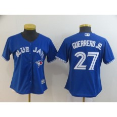 MLB Toronto Blue Jays #27 Vladimir Guerrero Jr. Royal Women Cool Base Jersey