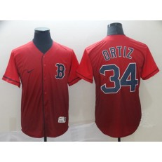 MLB Boston Red Sox #34 David Ortiz Red Drift Fashion Men Jersey