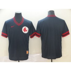 MLB Boston Red Sox Blank Navy Throwback Men Jersey