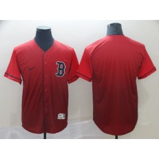 MLB Boston Red Sox Blank Red Drift Fashion Men Jersey