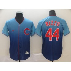 MLB Chicago Cubs #44 Anthony Rizzo Blue Drift Fashion Men Jersey