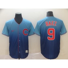 MLB Chicago Cubs #9 Javier Baez Blue Drift Fashion Men Jersey