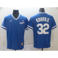 MLB Los Angeles Dodgers #32 Sandy Koufax Blue Throwback Men Jersey