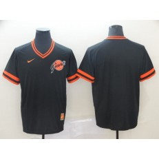 MLB San Francisco Giants Blank Black Throwback Men Jersey