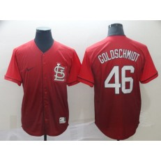 MLB St. Louis Cardinals #46 Paul Goldschmidt Red Drift Fashion Men Jersey