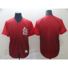 MLB St. Louis Cardinals Blank Red Drift Fashion Men Jersey