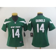 Women Nike New York Jets #14 Sam Darnold Green New 2019 Vapor Untouchable Limited Jersey