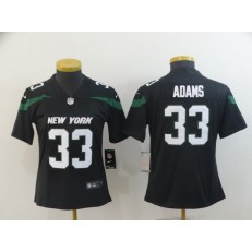 Women Nike New York Jets #33 Jamal Adams Black New 2019 Vapor Untouchable Limited Jersey