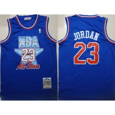 Chicago Bulls 23 Michael Jordan Blue 1992-1993 All Star Hardwood Classics Jersey