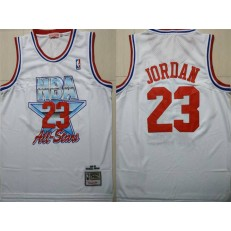 Chicago Bulls 23 Michael Jordan White 1992-1993 All Star Hardwood Classics Jersey
