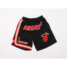 Miami Heat Black Just Don Throwback Shorts