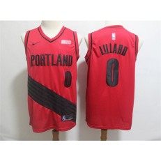 Portland Trail Blazers 0 Damian Lillard Red City Edition Nike Swingman Jersey