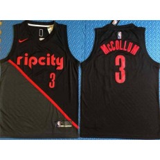 Portland Trail Blazers 3 CJ McCollum Black City Edition Nike Swingman Jersey