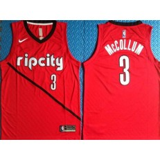 Portland Trail Blazers 3 CJ McCollum Red City Edition Nike Swingman Jersey