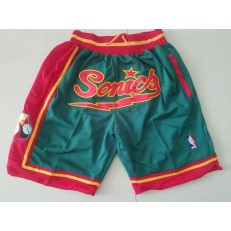 Seattle SuperSonics Green 1995-96 Hardwood classics Shorts