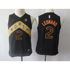 Toronto Raptors 2 Kawhi Leonard Black Youth City Edition Nike Swingman Jersey