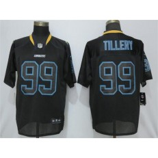 Los Angeles Chargers 99 Jerry Tillery Black Lights Out Elite NFL Nike Men Jersey