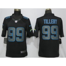 Los Angeles Chargers 99 Jerry Tillery Black Rush Impact Limited NFL Nike Men Jersey