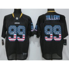 Los Angeles Chargers 99 Jerry Tillery Black USA Flag Fashion Limited NFL Nike Men Jersey