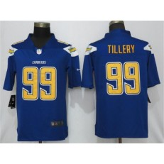 Los Angeles Chargers 99 Jerry Tillery Blue 2019 NFL Draft First Round Pick Color Rush Limited Nike Men Jersey