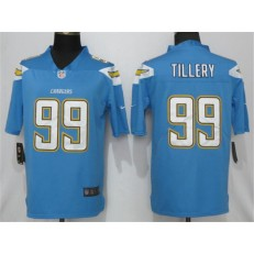 Los Angeles Chargers 99 Jerry Tillery Blue 2019 NFL Draft First Round Pick Vapor Untouchable Limited Nike Men Jersey