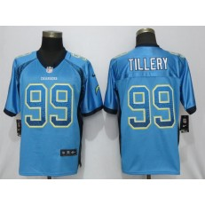 Los Angeles Chargers 99 Jerry Tillery Blue Drift Fashion Elite NFL Nike Men Jersey
