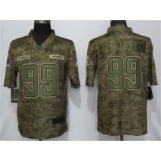 Los Angeles Chargers 99 Jerry Tillery Camo Salute To Service Limited NFL Nike Men Jersey