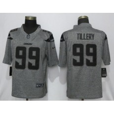 Los Angeles Chargers 99 Jerry Tillery Gray Gridiron Gray Vapor Untouchable Limited NFL Nike Men Jersey