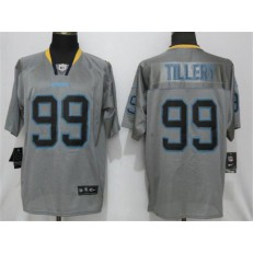 Los Angeles Chargers 99 Jerry Tillery Gray Lights Out Elite NFL Nike Men Jersey