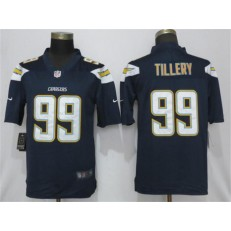 Los Angeles Chargers 99 Jerry Tillery Navy 2019 NFL Draft First Round Pick Vapor Untouchable Limited Nike Men Jersey