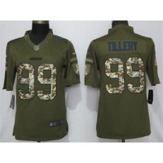 Los Angeles Chargers 99 Jerry Tillery Olive Camo Salute To Service Limited NFL Nike Men Jersey