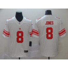 New York Giants 8 Daniel Jones White 2019 NFL Draft First Round Pick Vapor Untouchable Limited Nike Men Jersey