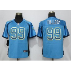 Women Nike Los Angeles Chargers 99 Jerry Tillery Blue Drift Fashion Limited Jersey